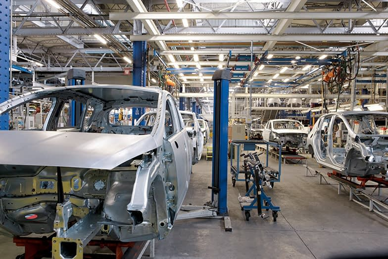 Car Industry: Robots in a Car Factory